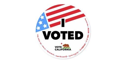 I voted! (Vote California)