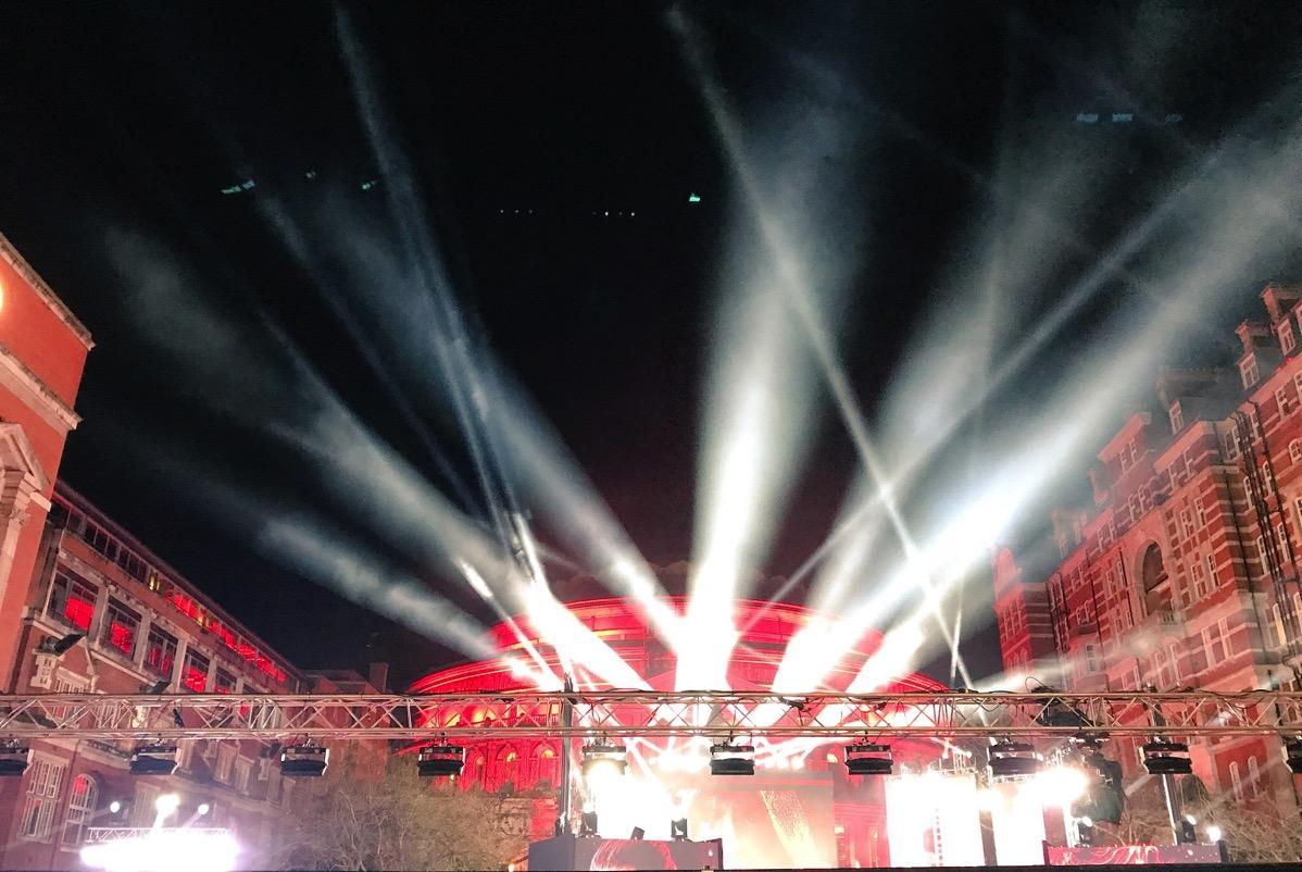 Albert Hall spotlights